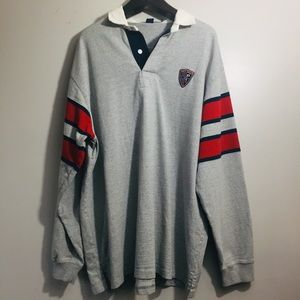 Polo Sport vintage long sleeve polo shirt. XXL